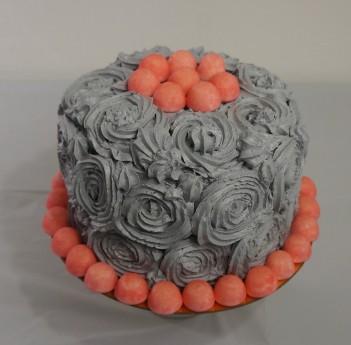 The Grey Rose Cake