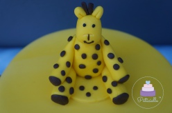 Gâteau Girafe - Girafe cake modelage