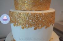 moule à dentelle - pâte à dentelle dorée