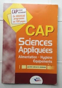 Sciences appliquées ou sciences de l'alimentation CAP Pâtissier